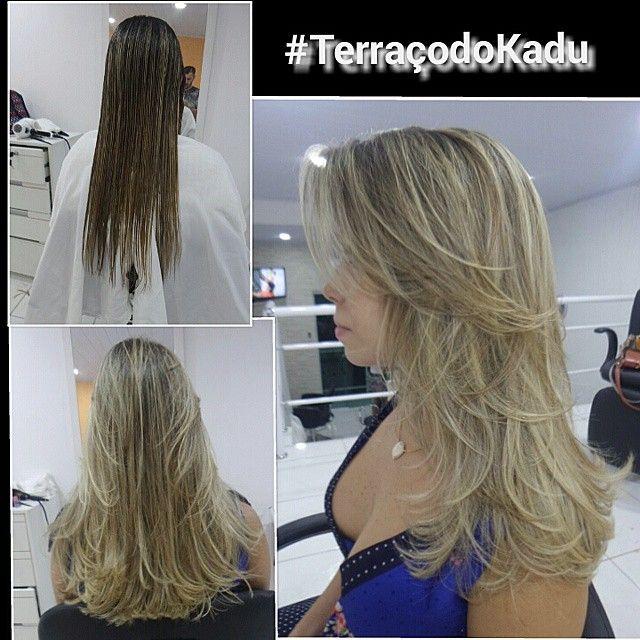 #ShareIG Era um Cabelo mais reto e sem movimento, tirei uns 8 dedos e ... nem parece ter cortado tanto.  Então não tenha medo, cortar faz bem e faz crescer! #kaducesario #TerraçodoKadu #salão #vilaKennedy #haircut #hair #cabelos #top #cortar de #3em3meses #dicasdokadu
