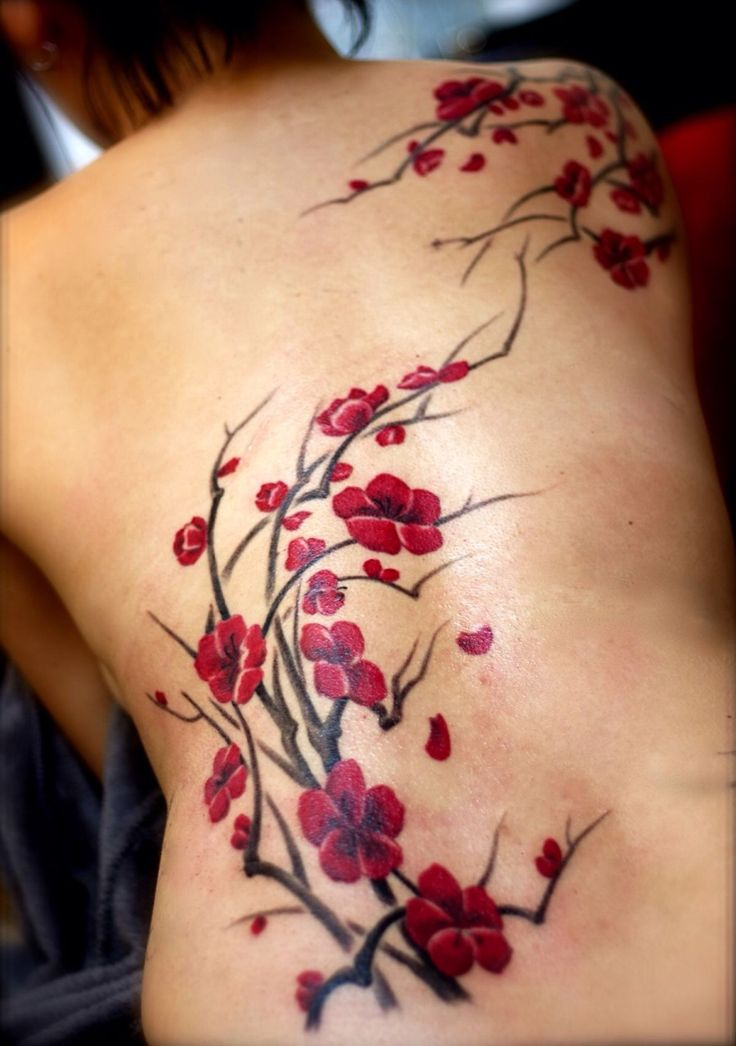 Cherry Blossom Back Tattoo Tumblr