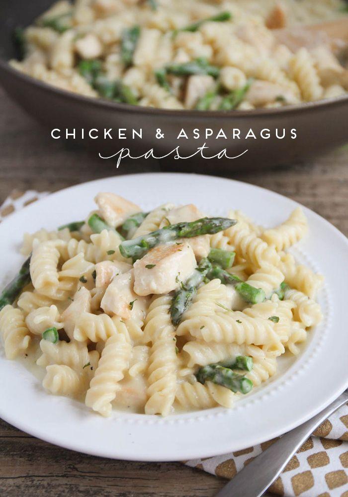 Chicken Asparagus Pasta   Asparagus pasta, Chicken ...