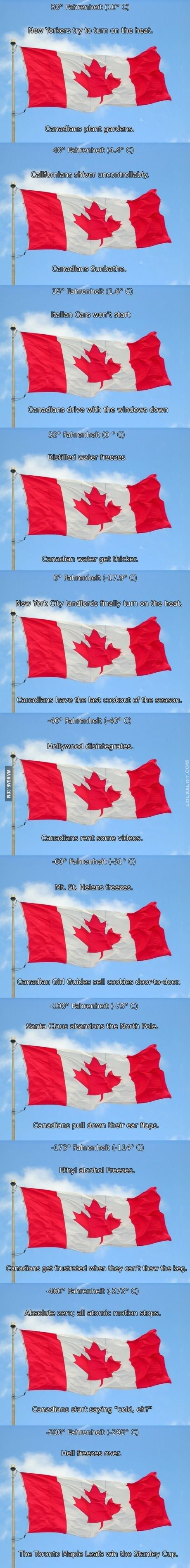 Official Canadian Temperature Chart  http://lolsalot.com/funny-pics/official-canadian-temperature-chart/  free funny pic downloads, funny, funny cat pics, funny celebrity pics, funny comic pics, funny fail, funny google, funny meanwhile in pictures, funny memes, funny minions, funny photos, funny photos to share on facebook, funny pic of the day, funny pics to share, Funny pictures, funny politics pics, funny quotes, funny space pics, funny unique pics, funny usa pics, hil