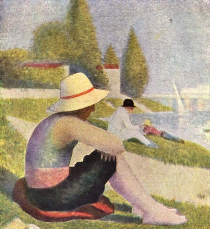Seurat Pointillism Paintings | Georges Seurat: Une baignade à Asnière attraverso studi e disegni ...