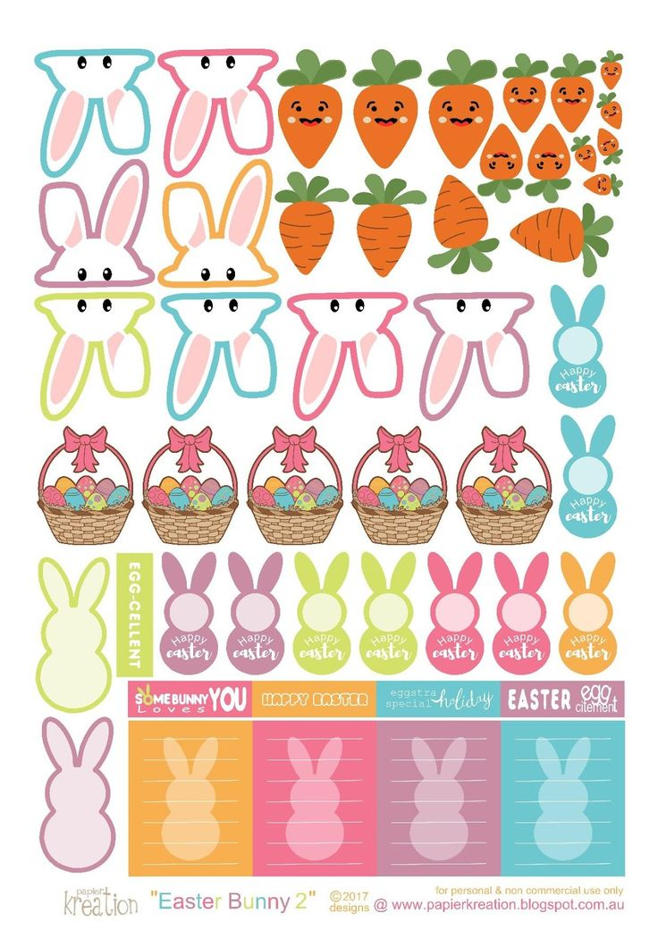 Free Printable Easter Planner Stickers