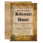 Declaration of Independence USA Rehearsal Dinner Card