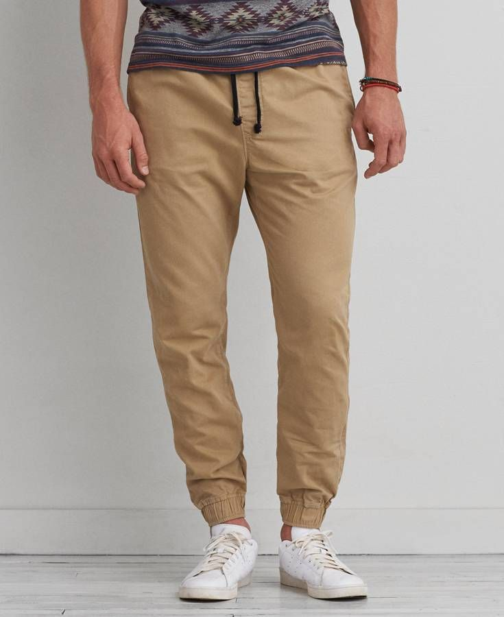 American Eagle Jogger (Jogging Pants) Pants, Men's, Khaki