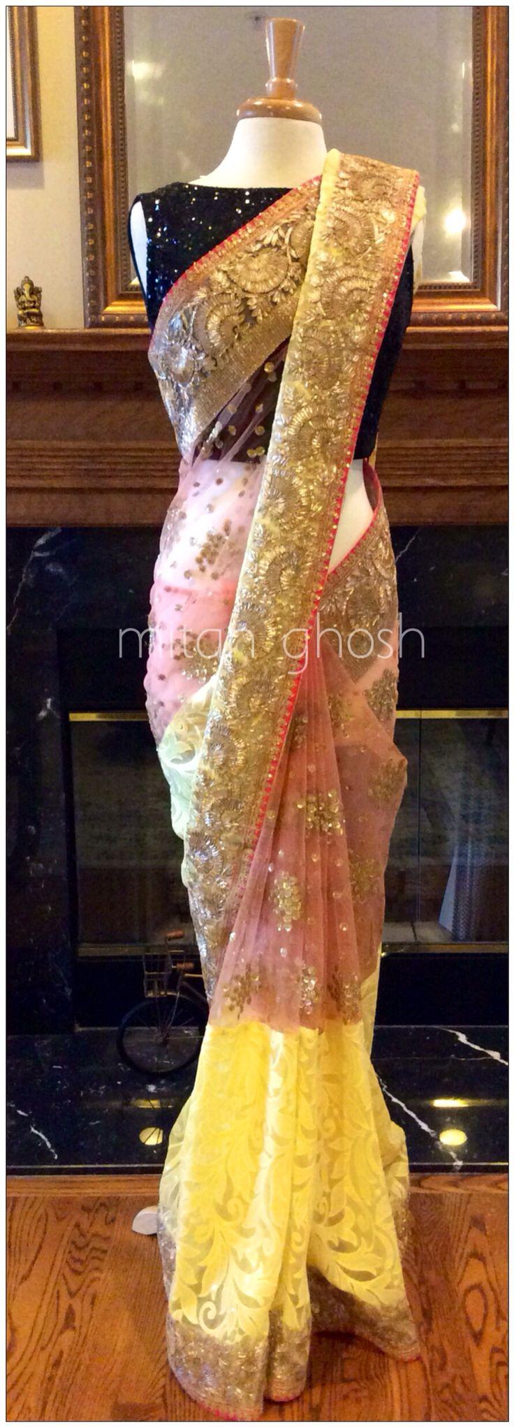 Embellished Net Saree