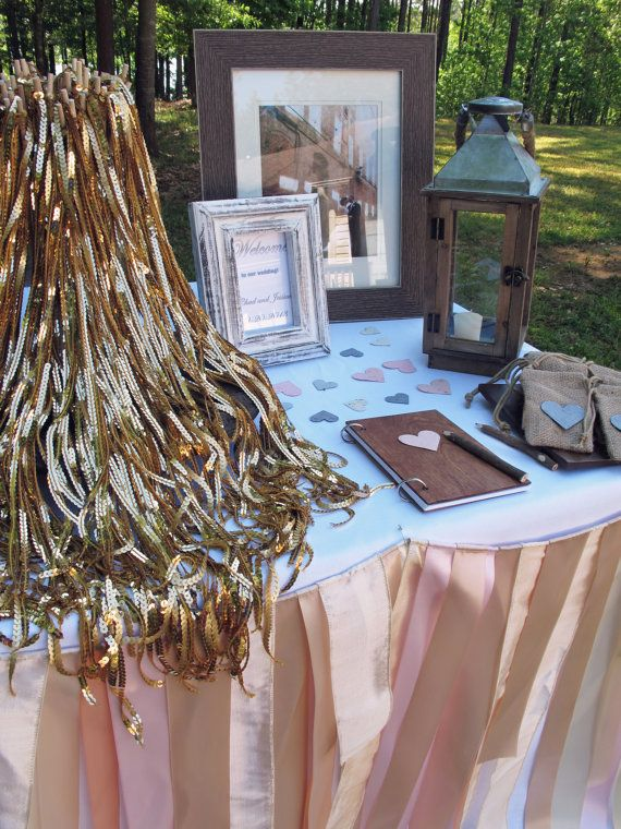 100 Gold Sequin Ribbon Wedding Wands by JessicaAnnBoutique on Etsy, $250.00