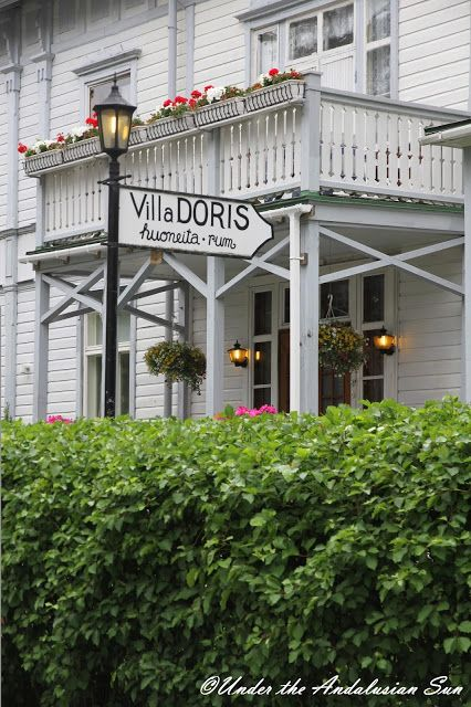 Hanko, Finland - Villa Doris, one of the oldest wooden villas in the Spa Park