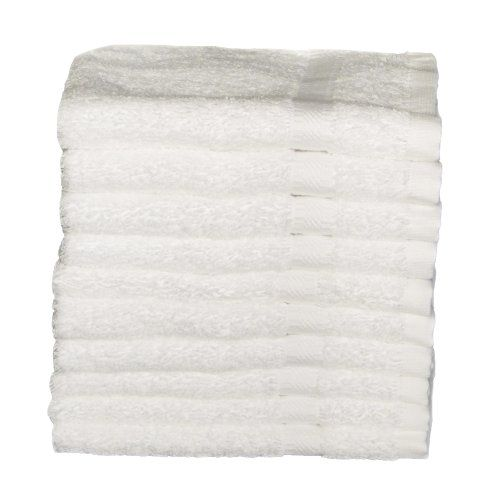 Rsvp By Baltic Linen 100-Percent Ring Spun Cotton 10-Pack Wash Cloths, 13 By 13-Inch, White. RSVP by Baltic Linen 100-percent Ring Spun Cotton Hospitality/Institutional/Hotel Luxury 10 Pack 13x13 Inch Wash Cloths are perfect for any use. 100-Percent Ring Spun Cotton. The fine 100-percent Ring Spun cotton is soft, thick and absorbent. Soft, thick and absorbent. Comes in white only. It is used at Spas, Cruise Ships and Hotels all over the world. The Wash Cloth is 525 GSM which is 1.5...