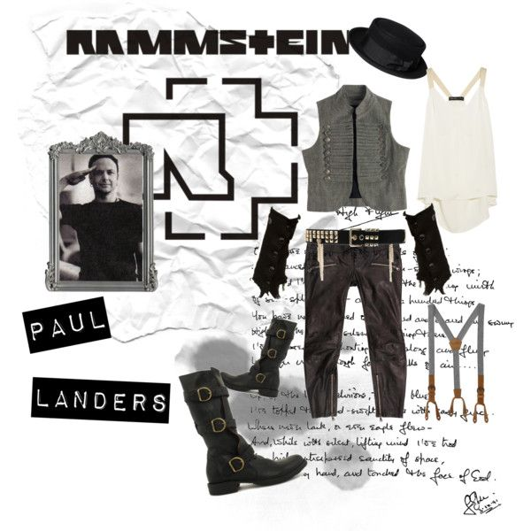 Look inspirado no Paul Landers do Rammstein
