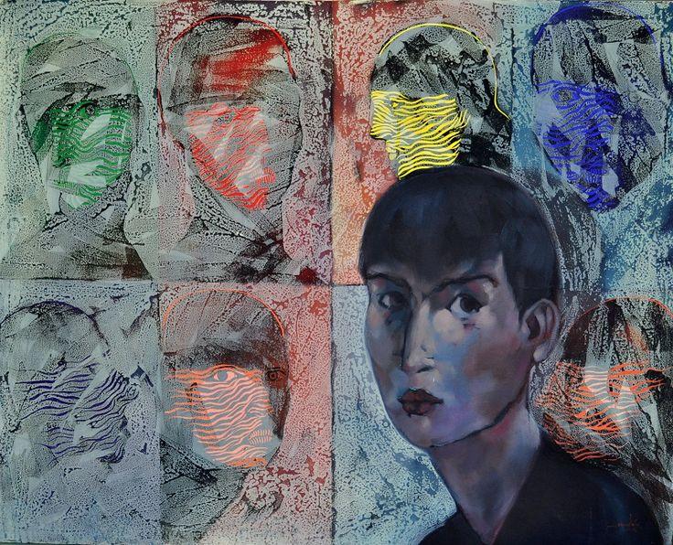 Retrato del artista 100 cm x 80 cm Acrílico-Lienzo 2012 3.000€  #arte #art #artecubano #cubanart #galerías #galleries #pintura #painting #EdelBordon