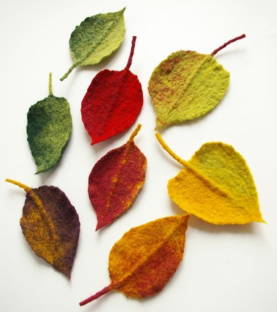 Felted Autum Leaves ...........click here to find out more http://googydog.com