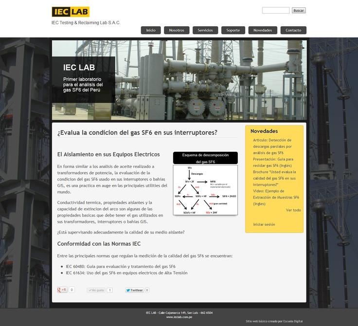 IEC Testing & Reclaiming Lab SAC, IEC LAB, busca convertise en una compañia pionera en Perú para el analisis del hexafluoruro de azufre, SF6, utilizado como medio aislante del gas en interruptores de potencia actuales en tanque vivo y tanque muerto, bahias GIS, y bahias hibridas HIS.
