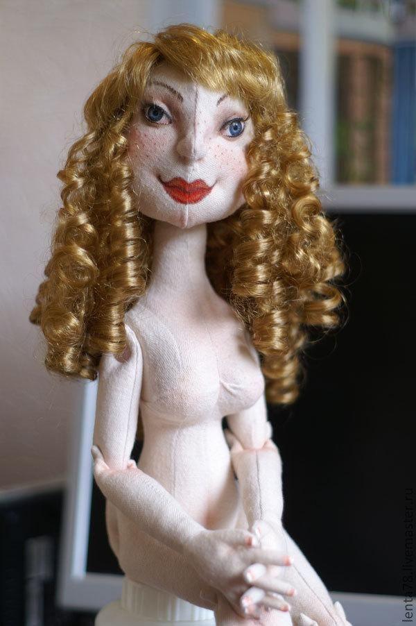 Кукла текстильная шарнирка. - Ярмарка Мастеров - ручная работа, handmade