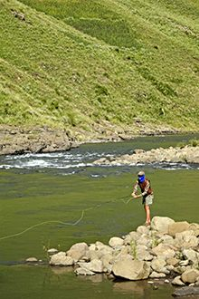 Edward Truter strikes it rich with summertime, grasshoppers, yellowfish and thoughts of diamonds deep in the Lesotho Highlands...
