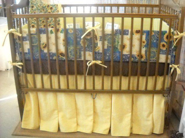 Sunflower Baby Crib Bedding By, Sunflower Crib Bedding