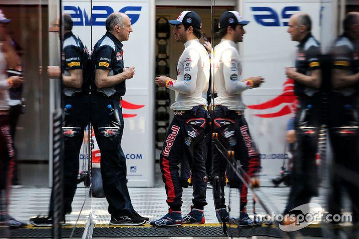 Franz Tost, Scuderia Toro Rosso Team Principal with Carlos Sainz Jr., Scuderia Toro Rosso