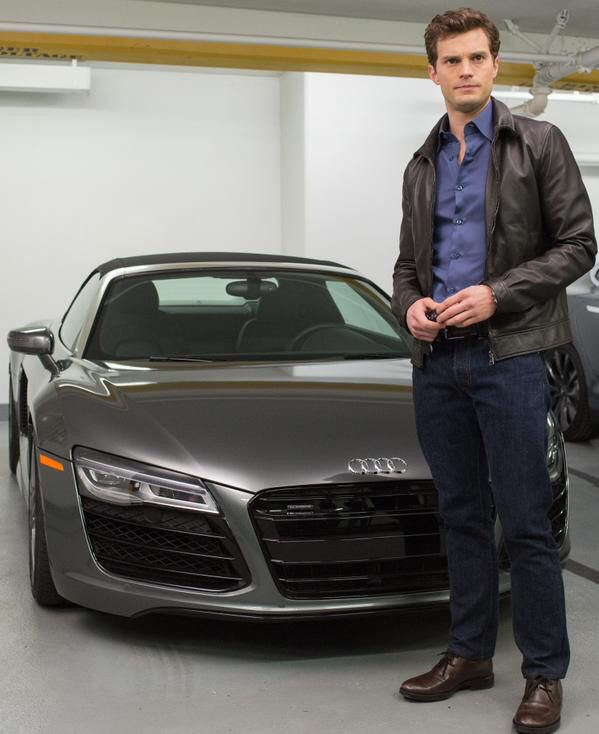 """New still of Christian Grey!"" Jamie Dornan Fifty shades of grey movie"