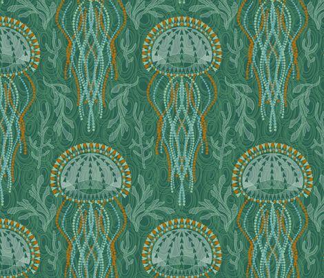 jellyfishGreen Jelly, Fabrics Jellyfish, Fabrics Wal, Jellyfish Fabrics, Custom Fabrics, Spoonflower Fabrics, Beloved Jellyfish, Jellyfish Cjldesign, Jumpin Jellyfish