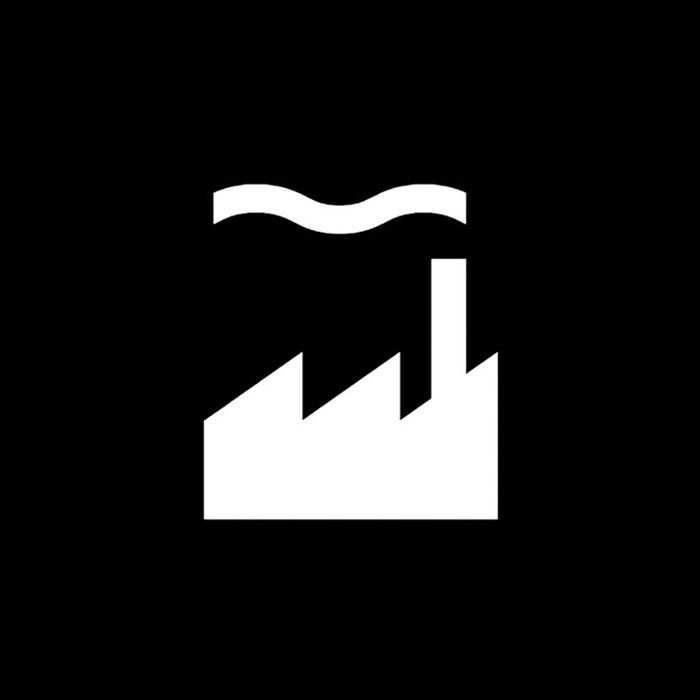 Factory Records by Peter Saville Associates. (circ.1984) #logo #branding #design
