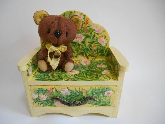 Large Wood jewelry box Jewelry drawers Handpainted от MilaPollyart