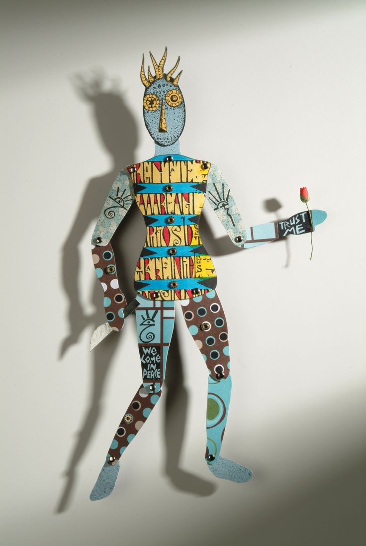 Heather Crossley - TRUST ME WE COME IN PEACE - Paper Art Doll