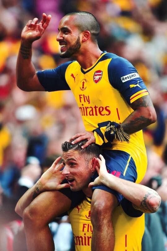 Walcott und Giroud - Arsenal