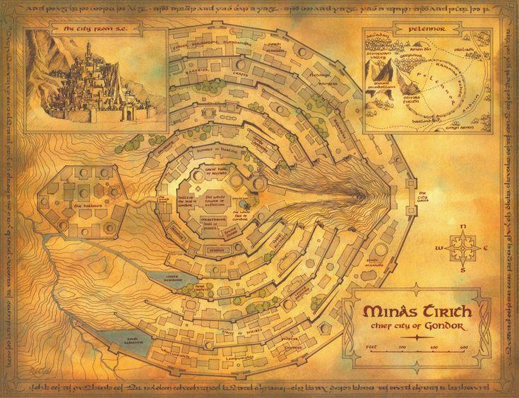 карта минас-тирита