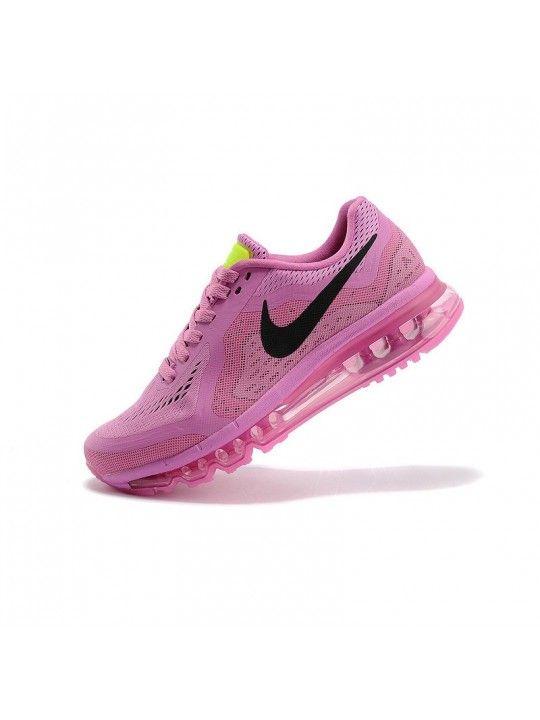 Correr zapatos Nike Air Max 2014 - Mujeres - neón negro rosa 3XXIL