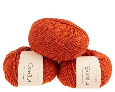 Orange ob115 - Semilla - økologisk uldgarn fra B.C. Garn - Strikkepinden