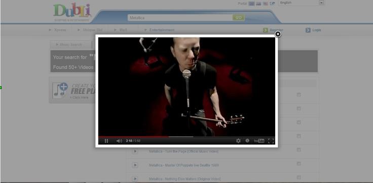 Metallica Videos und mehr bei Dubli