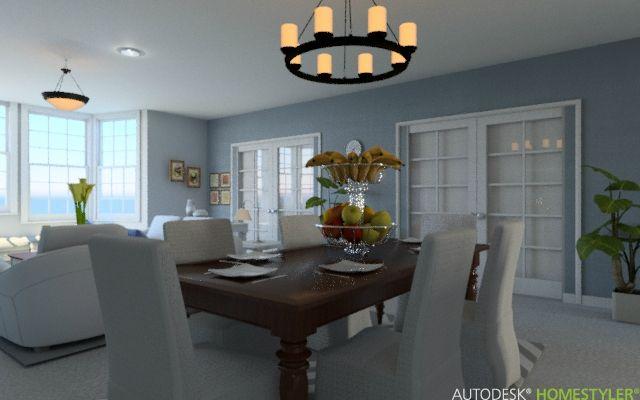 Ideas de #Comedor, estilo #Clasico color  #Azul,  #Beige,  #Blanco, diseñado por MGC Diseño de Interiores  #CajonDeIdeas