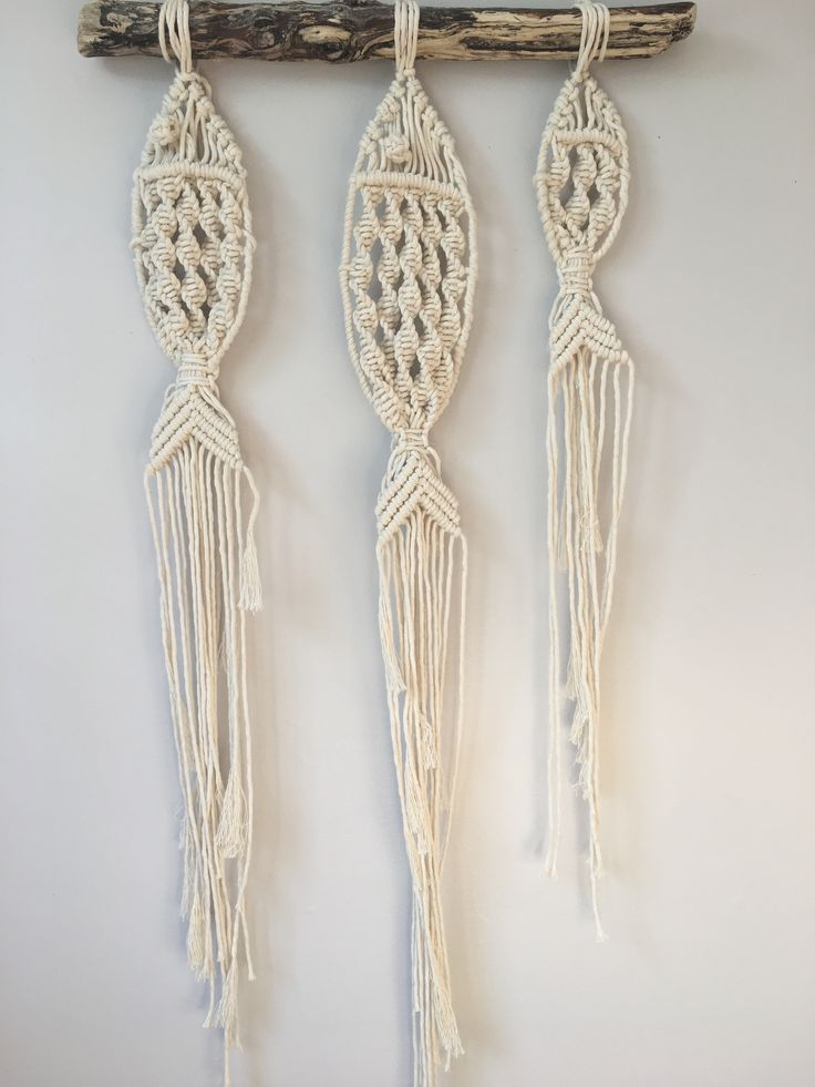 NEW LISTING ADDED. Check out these sweet macrame fish / Macrame Wall Hanging / Natural Home Decor / Nursery Decor / Beachy Wall Hanging / Boho Wall Ha…