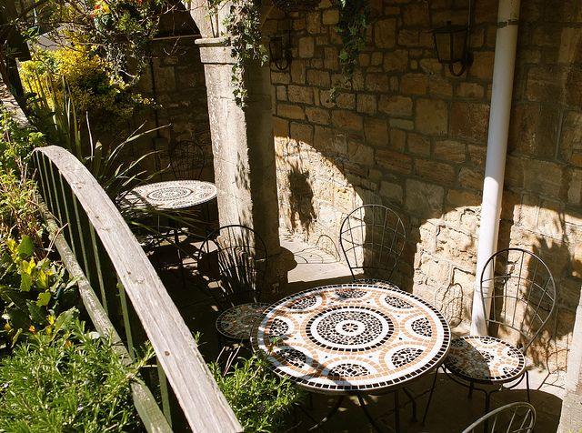 Old cafe terrace - Sussex, UK
