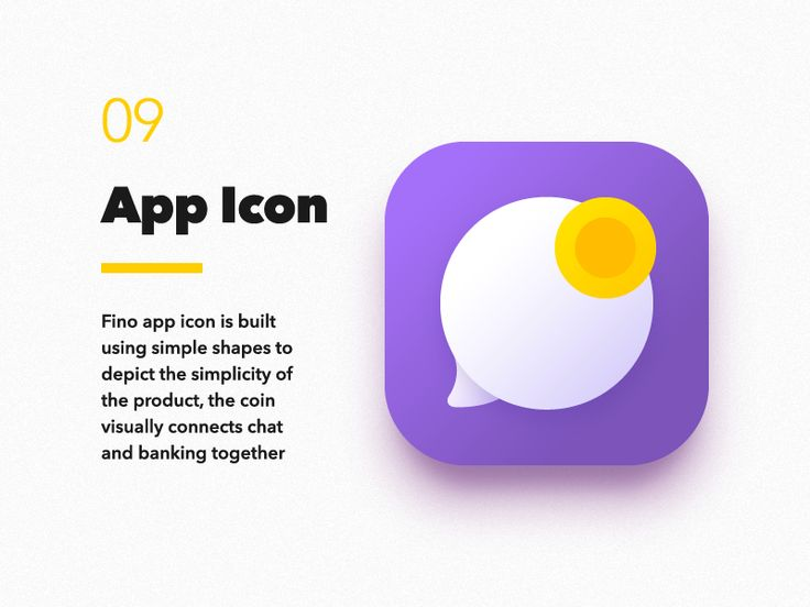 Fino Finance Messenger  App Icon by VisualRocks.co   #Design Popular #Dribbble #shots