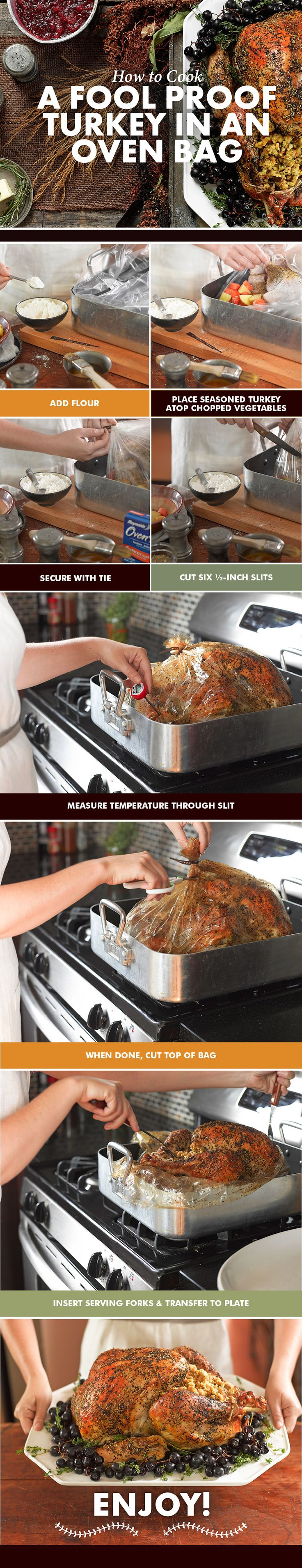 Make your Turkey in an Oven Bag this year. It's easier than you think and keeps the turkey moist! #thanksgiving #turkey #ovenbag