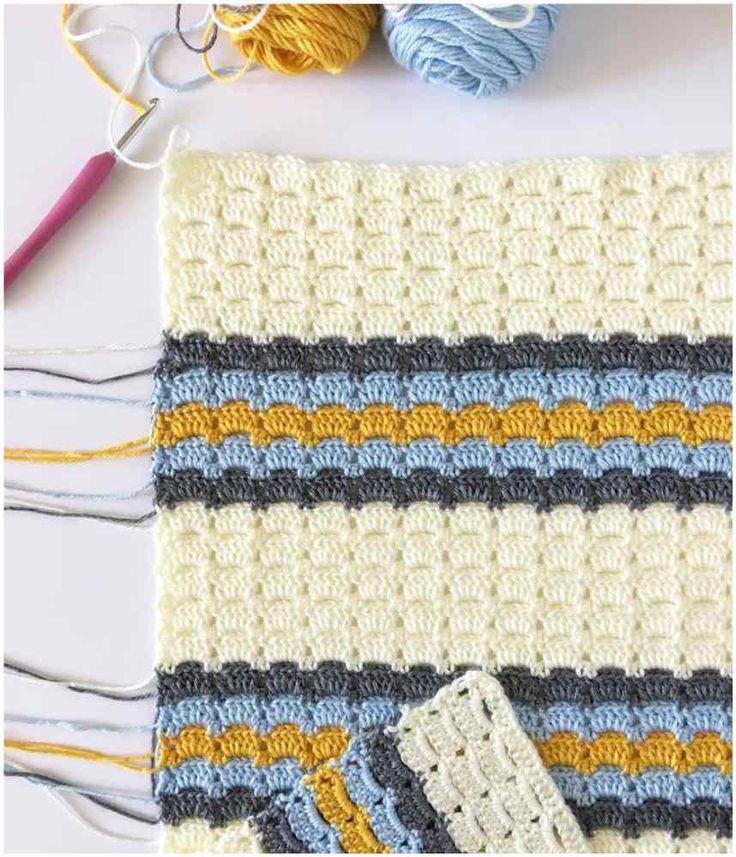 Box Block Crochet Stitch For Afghans Free Pattern
