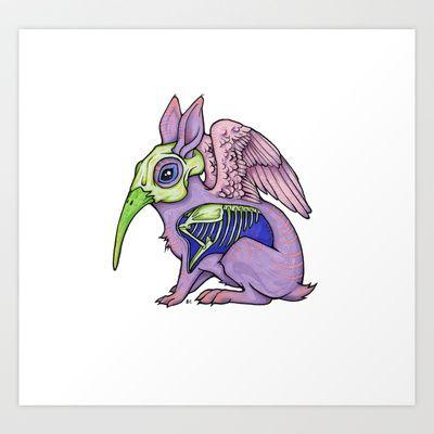 Spirit Rabbit Art Print by Elizabeth Bitsy Conde - $17.50