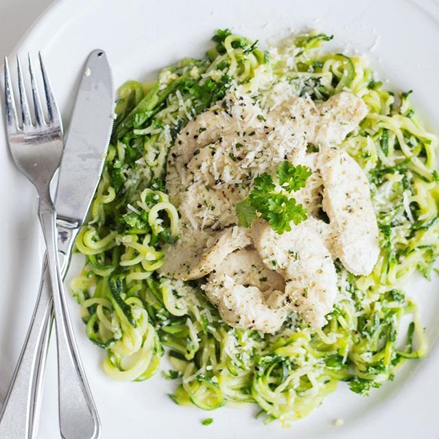 Low carb chicken Parmesan spaghetti squash  Endelig er jeg også eier av en grønnsaks-spiralizer Sinnsykt godt! Oppskrift på bloggen❤️ #spaghettisquash #spiralizer #lowcarb #KitchenTime #KitchenTimeno #ProTings #spons