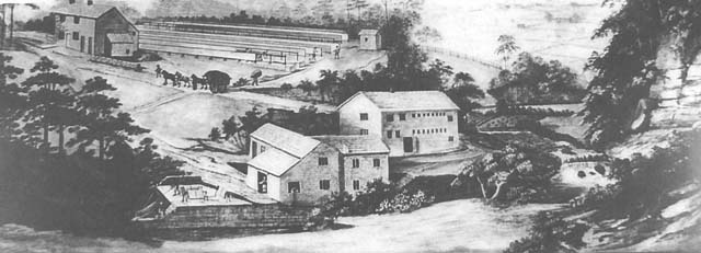 How Healey Dell mill in Lancashire would have looked. Mill built mid-17th century. http://www.healeydell.org.uk/thowd_mill_ith_thrutch.html