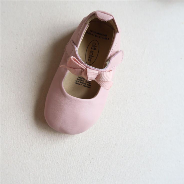 Old Soles Pink Swan Mary Jane (EU Size 21)