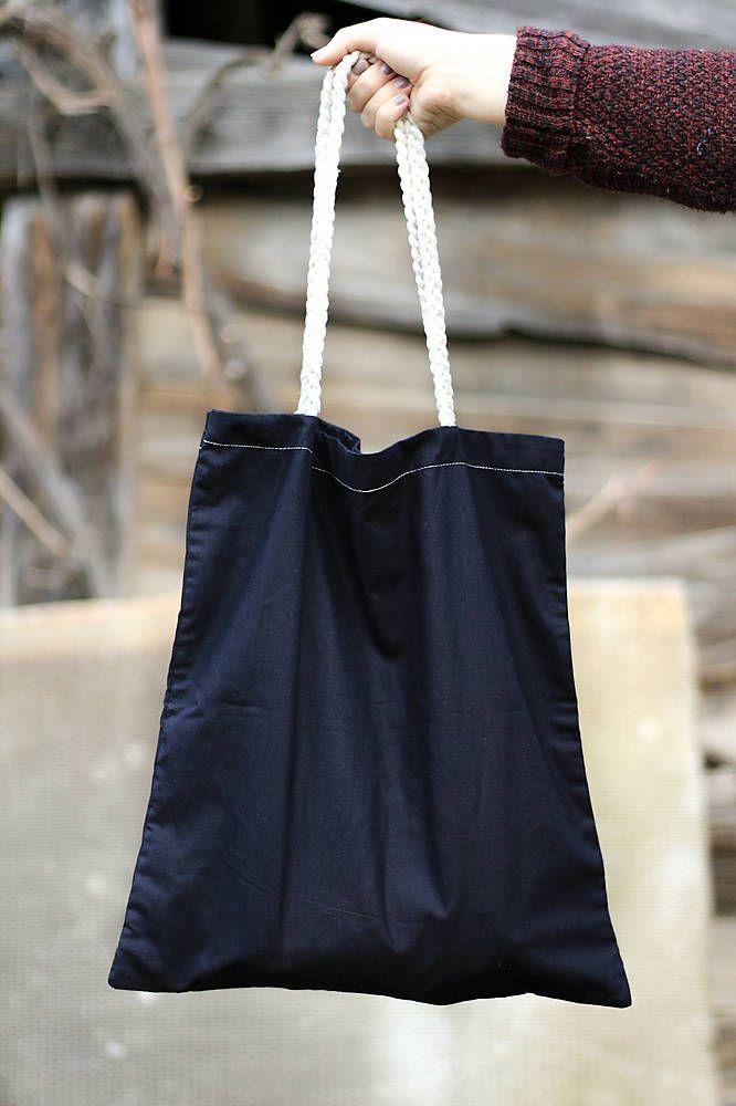 silvART / Čierna (taška s pletenými rúčkami)