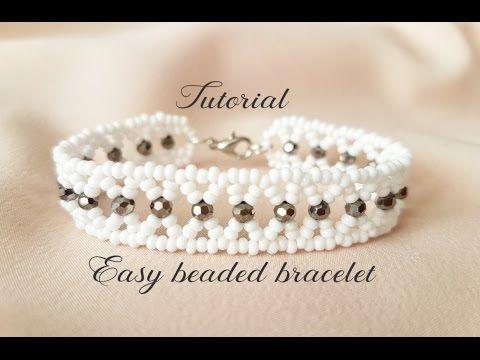 #МК - Легкий браслет из бисера и бусин | Easy beaded bracelet - YouTube