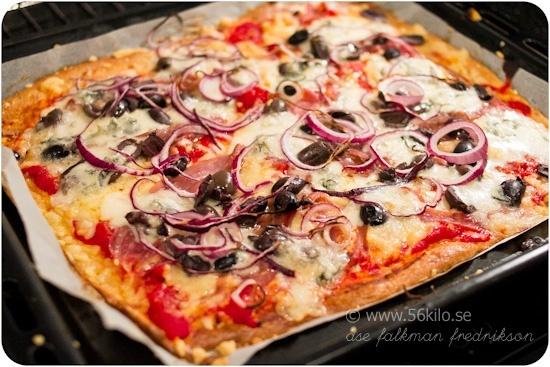 Godaste LCHF pizzan! @ 56kilo.se – LCHF Recept, inspiration, mode och matglädje!