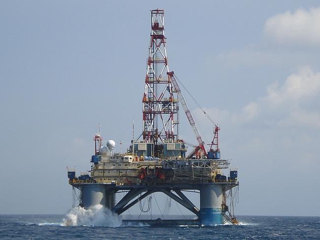Near the crash site? ... the Songa Mecur oil rig off Vung Tau, Vietnam.