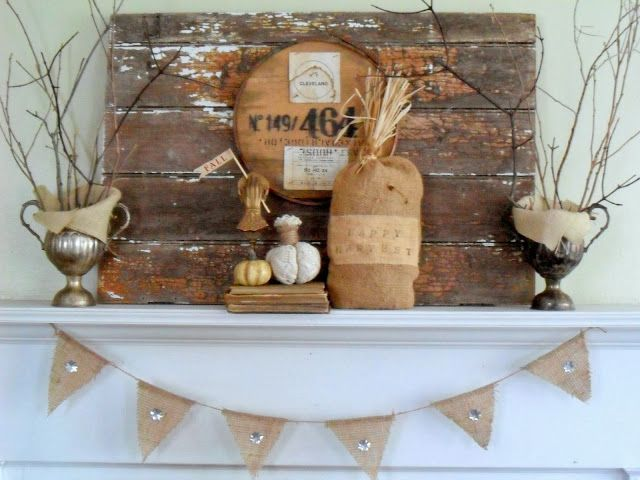 Must love junk decorated for fall in natural colors and rustic design the whole theme looks - Fall natural decor ideas rich colors ...