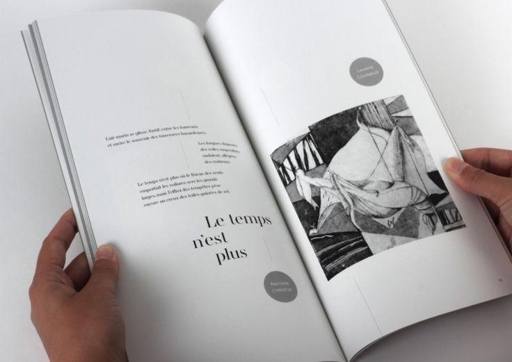 mise-en-page-catalogue-art-gravure-couverture Quand la littérature rencontre la gravure, cela donne un catalogue d'une légère gravité... http://www.grapheine.com/portfolio/une-legere-gravite