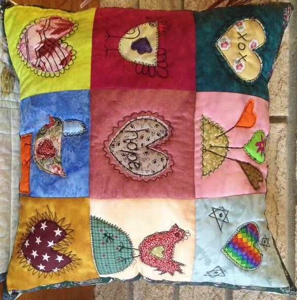 Funky Chicken Cushion - $35.00 for sale on www.catchacreation.com.au Green Gable Quilts