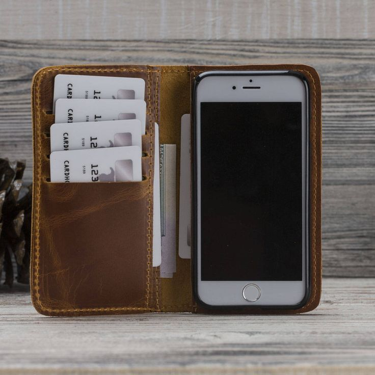 iPhone 7 Case Wallet, iPhone Leather Case, Leather iPhone 7 Case, Antic Brown iPhone Case, Fathers Day Gift, Gift for Him by o2leather on Etsy