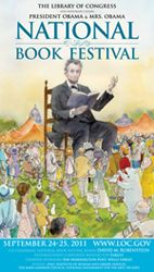 2011 Library of Congress National Book Festival Poster. Poster Artist: John J Muth.