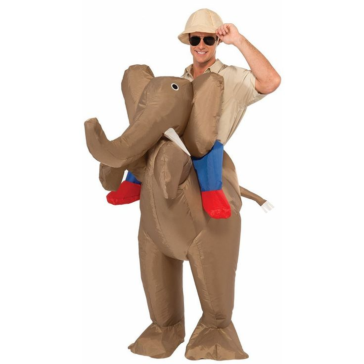 Inflatable Elephant Costume - Adult, Adult Unisex, Multicolor